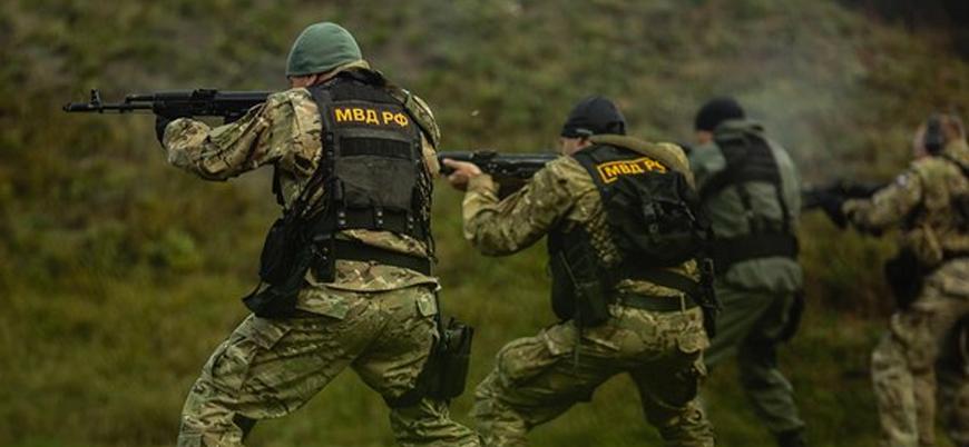 Rus Ulusal Muhafızları Belarus'ta savaş tatbikatı yapıyor