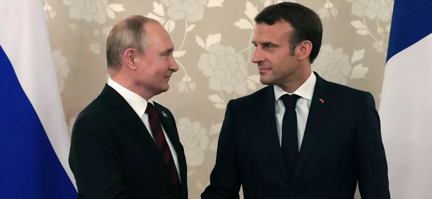Macron ve Putin Dağlık Karabağ'ı görüştü