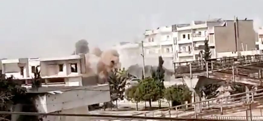Esed rejimi İdlib'de sivilleri bombaladı: Ölü ve yaralılar var