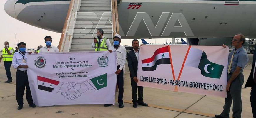 Pakistan'dan Esed rejimine tıbbi malzeme yardımı