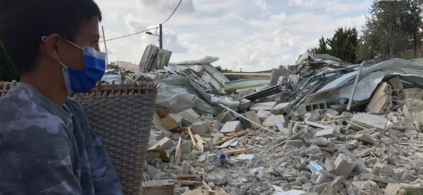 İsrail Filistinlilere ait bir evi daha yıktı