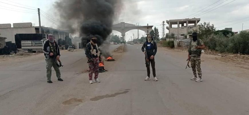 Rejim kontrolündeki Dera'da muhalifler kontrol noktasına saldırdı