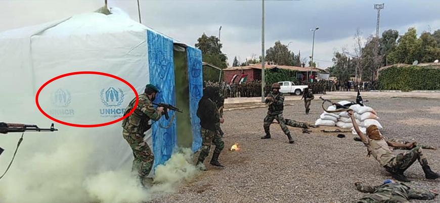 Esed rejiminin 'tedarikçisi': BM çadırları askeri tatbikatta kullanıldı