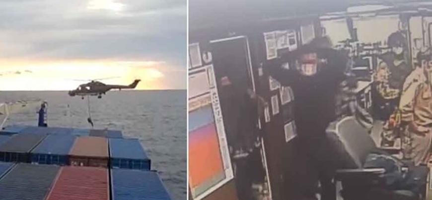 Alman fırkateyni Doğu Akdeniz'de Türk gemisine baskın düzenledi