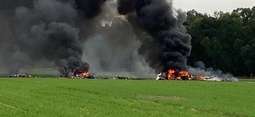 İsrail'de eğitim uçağı düştü