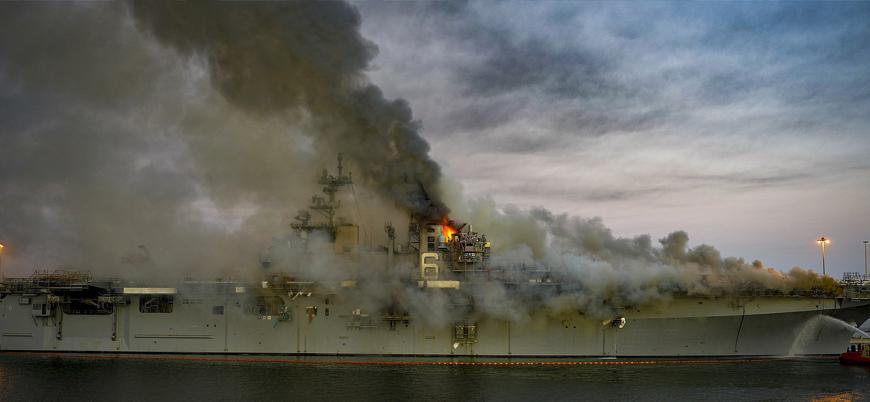 ABD Donanması USS Bonhomme'yi hurdaya ayırıyor