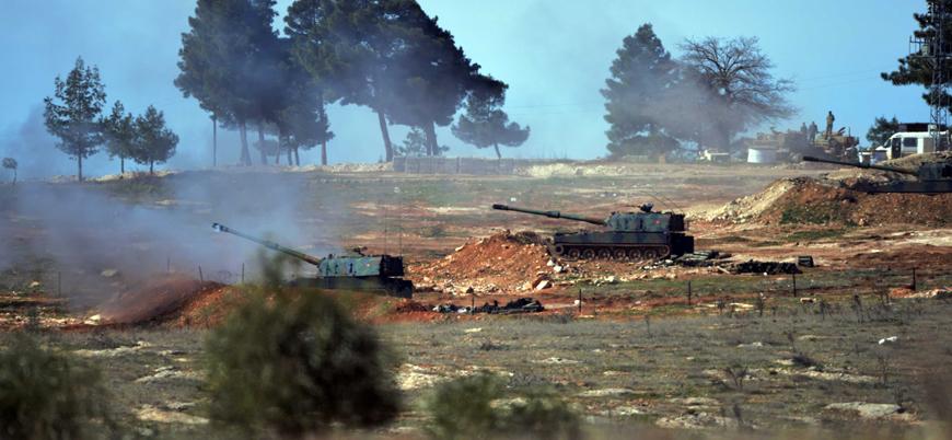 TSK'dan Suriye'de rejim kontrolündeki noktalara bombardıman