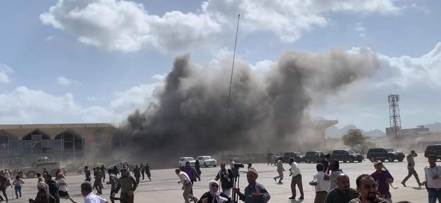 Yemen'in Aden Havalimanı'nda saldırı