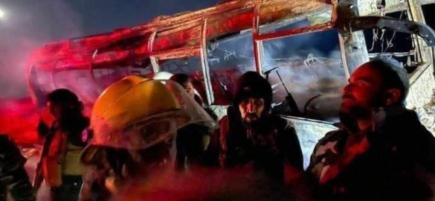 Suriye'de rejim askerlerini taşıyan otobüslere saldırı