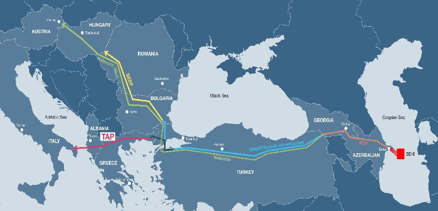 Azerbaycan'dan Avrupa'ya gaz akışı başladı