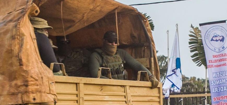 Orta Afrika Cumhuriyeti'ndeki Rus paralı askerler görüntülendi