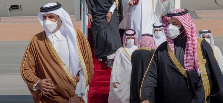 Katar Emiri Şeyh Temim es Sani Suudi Arabistan'da