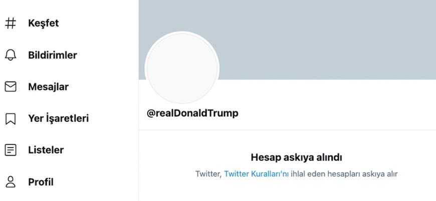 Twitter, Trump'ın hesabını askıya aldı