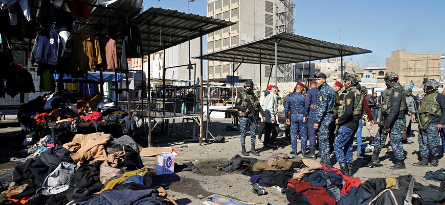 Irak'ın başkenti Bağdat'ta pazar yerine düzenlenen saldırıyı IŞİD üstlendi
