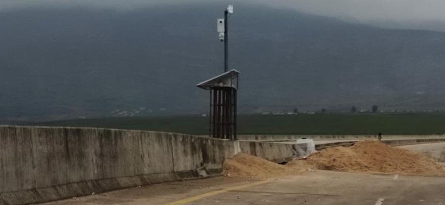 TSK, İdlib'deki M4 karayoluna güvenlik kameraları yerleştiriyor