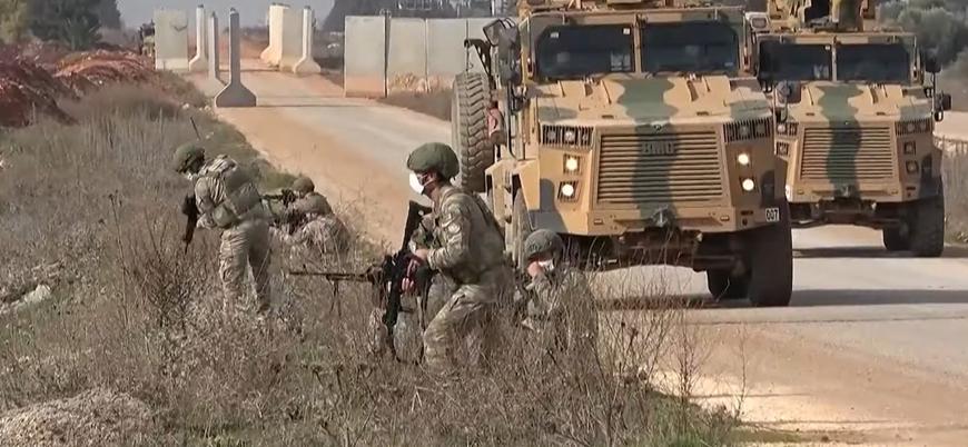 İdlib'de Türk ve Rus askerlerinden ortak tatbikat