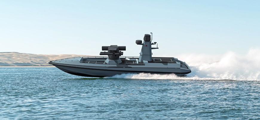 Türkiye'nin ilk silahlı deniz aracı ULAQ suya indi