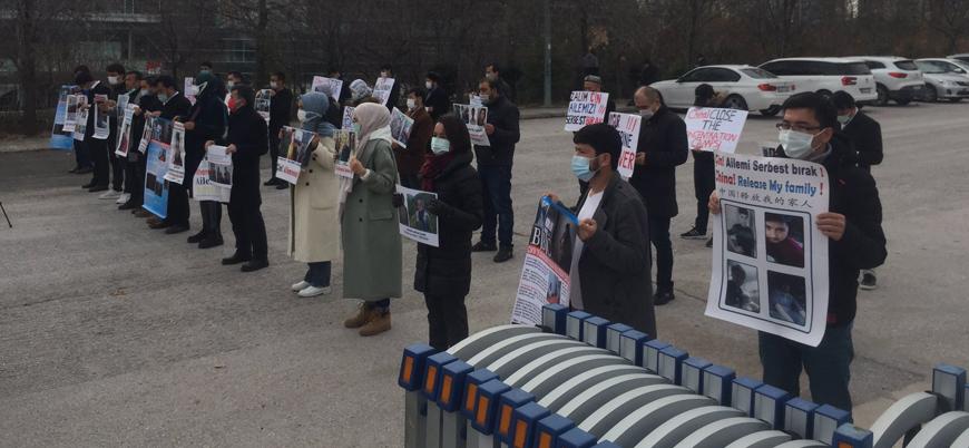 Ankara ve Kayseri'de seslerini duyurmaya çalışan Uygur Türklerine polis müdahalesi