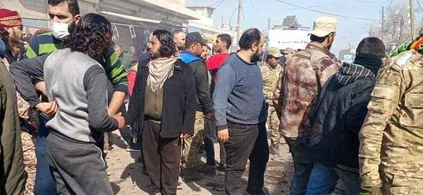 Türkiye sınırındaki Çobanbey'de bombalı saldırı