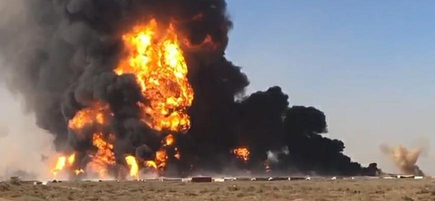 Afganistan'ın İran sınırındaki gümrük bölgesinde şiddetli patlama