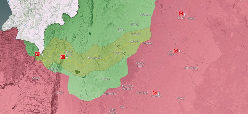 İdlib son durum haritası (Şubat 2021)