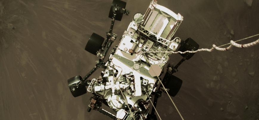 Mars'a iniş yapan 'Perseverance' uzay aracının çektiği ilk fotoğraflar yayınlandı