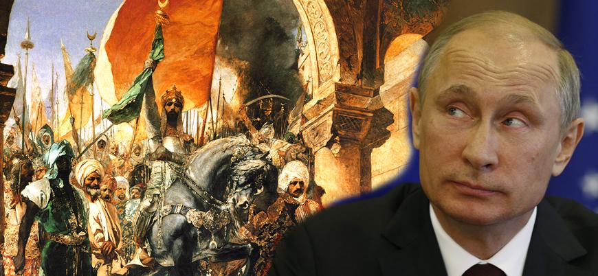 Putin'den İstanbul'u fetheden Türklere 'barbar' ifadesi