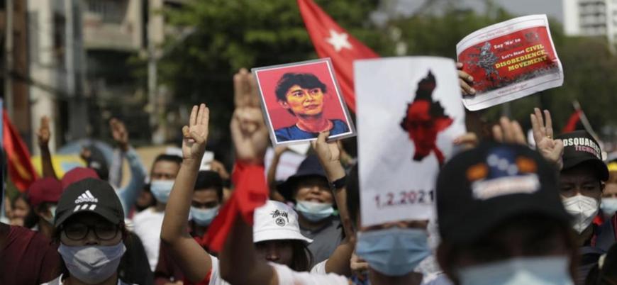 Myanmar'da darbe karşıtı protestolarda bir günde 38 kişi öldürüldü