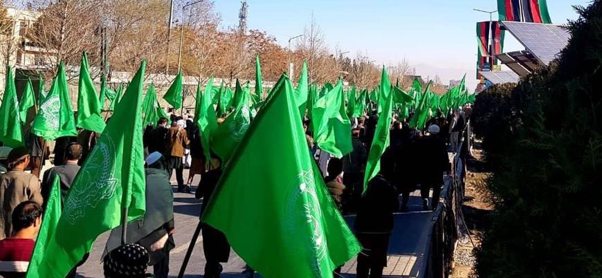 Afganistan'ın başkenti Kabil'de Hikmetyar taraftarları sokaklara çıktı