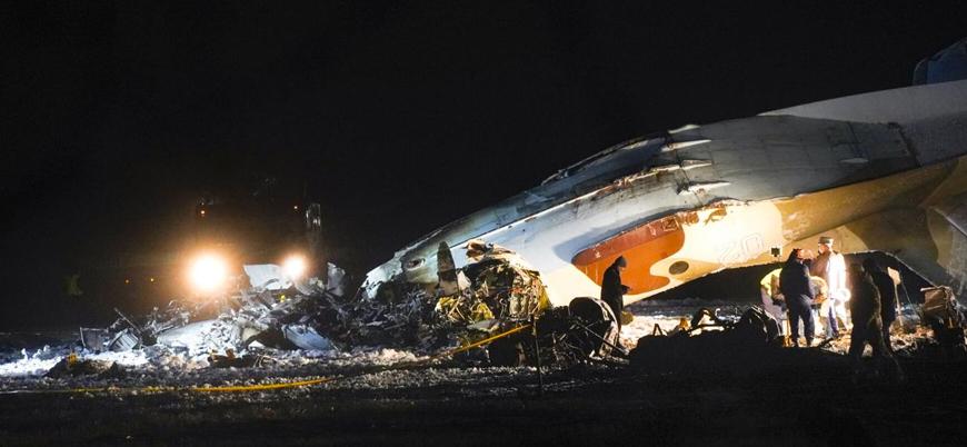 Kazakistan'da askeri uçak düştü