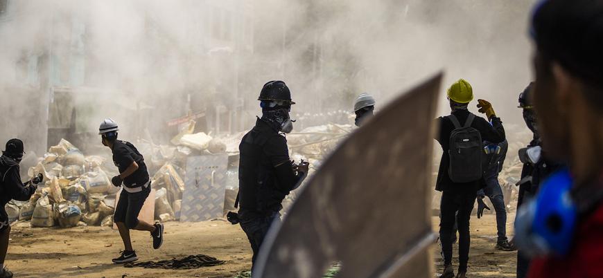 Myanmar'da cunta bir günde 38 darbe karşıtı göstericiyi öldürdü