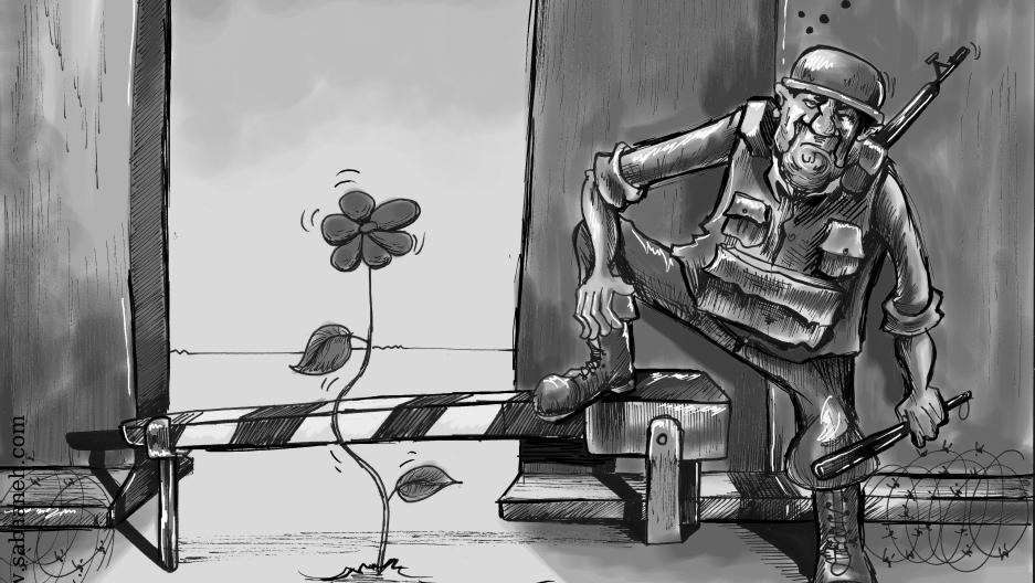 Filistin'den özgürlüğe bedel çizimler
