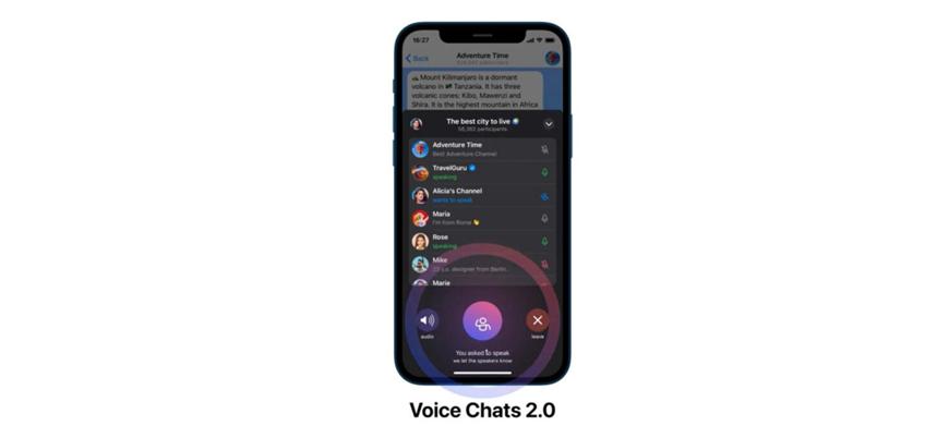 Telegram'a Clubhouse benzeri 'sohbet odası' özelliği eklendi