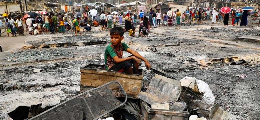 Arakan mülteci kamplarında çıkan yangın sonrası 600 çocuk kayıp
