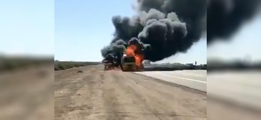 Irak'ta ABD'ye ait lojistik konvoya saldırı