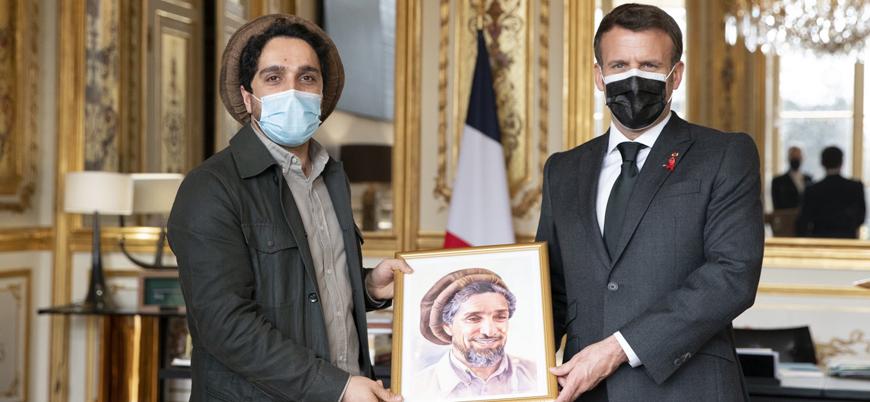 Fransa Cumhurbaşkanı Macron, oğul Şah Mesud'u kabul etti