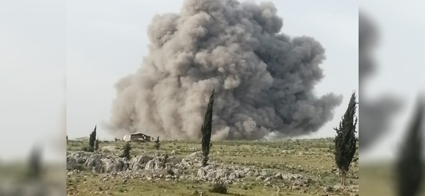 Rus jetleri İdlib'in güneyini bombalıyor