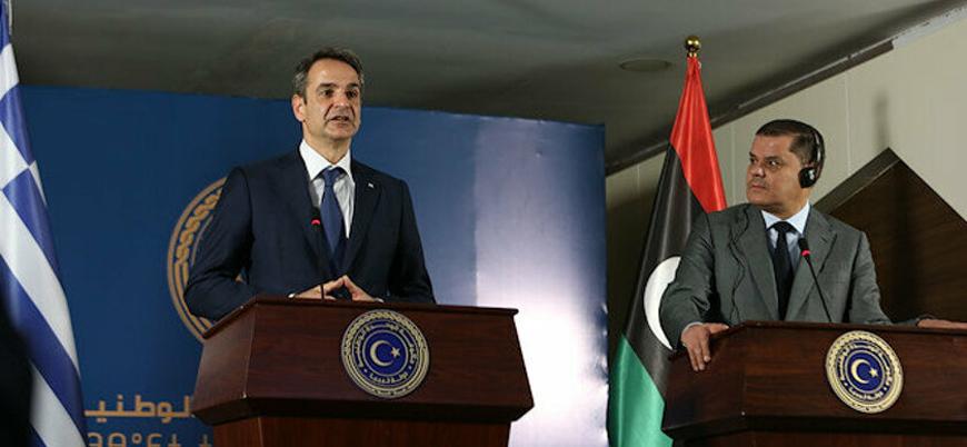 """Yunanistan'dan Libya'ya """"Türkiye ile deniz anlaşmasını iptal et"""" çağrısı"""