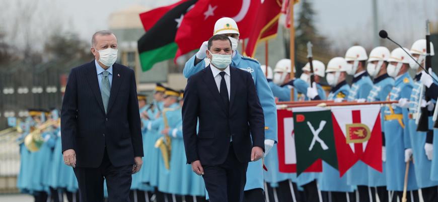 Cumhurbaşkanı Erdoğan, Libya Başbakanı Dibeybe'yi resmi törenle karşıladı