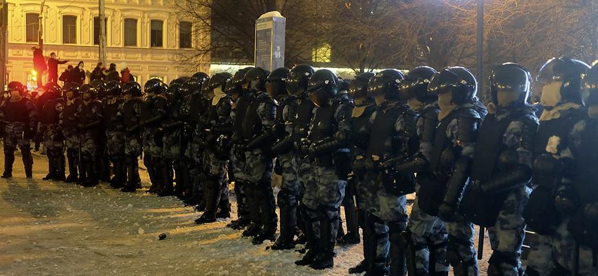 Navalny protestolarında 1780 gözaltı
