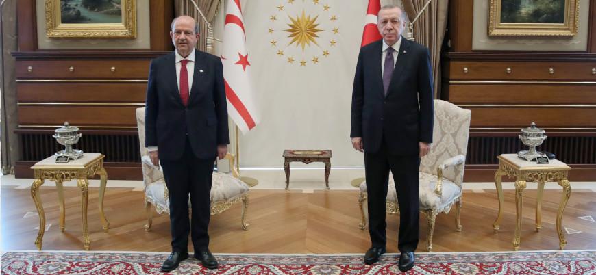 Cumhurbaşkanı Erdoğan, KKTC Cumhurbaşkanı Tatar'ı kabul etti