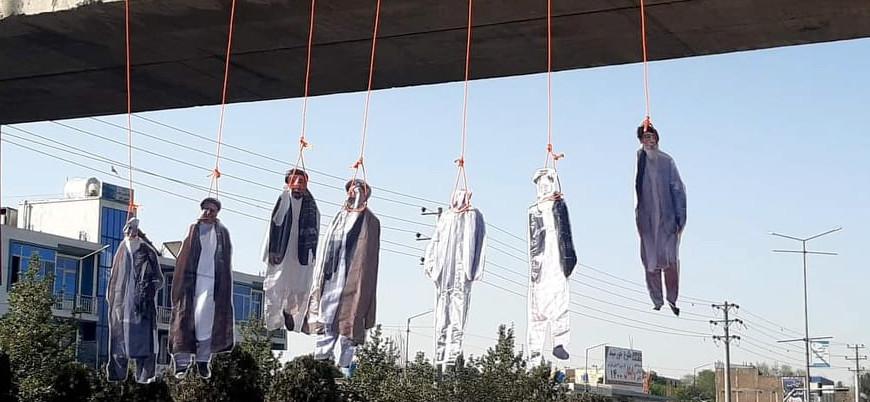 Başkent Kabil'de Afgan liderler 'köprüye asıldı'