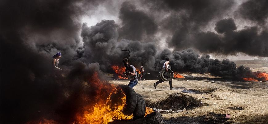 İsrail'den Gazze Şeridi sınırındaki gösterilere müdahale: 1 ölü 15 yaralı