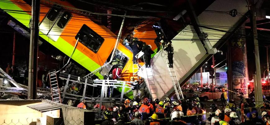 Meksika'da metro kazası: En az 23 ölü