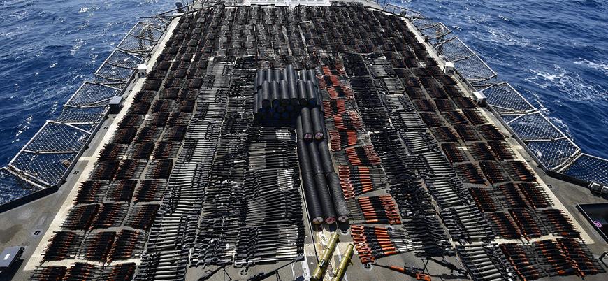 ABD donanması Arap Denizi'nde yüklü miktarda silah ele geçirdi