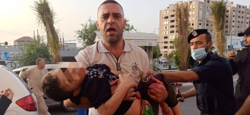 İsrail'in Gazze saldırılarında 9'u çocuk 24 kişi hayatını kaybetti