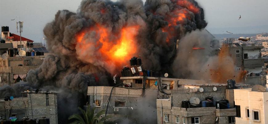 BM: Gazze'de 42 bin Filistinli evini terk etmek zorunda kaldı