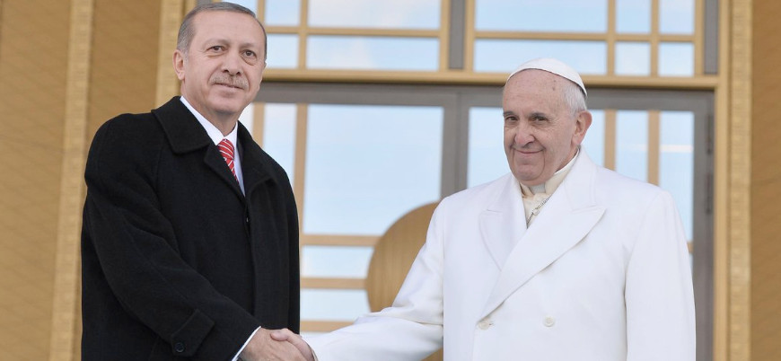 Erdoğan Papa ile Filistin'i görüştü