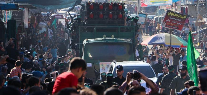 Kassam Tugayları'ndan gövde gösterisi
