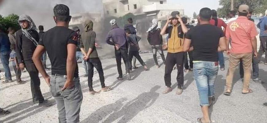 Menbiç'te Araplar YPG/PKK'ya karşı ayaklandı